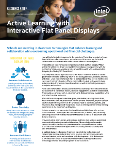Interactive Education Technologies Developed by Intel