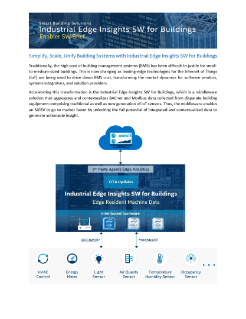 Industrial Edge Insights Software for Buildings