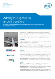 Better Efficiency in Airport Transportation with the IoT