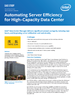 Automating Server Efficiency for High-Capacity Data Center