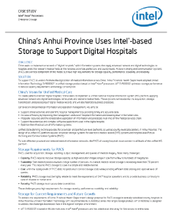 China's Anhui Province Uses Intel®-based Storage to Support Digital Hospitals