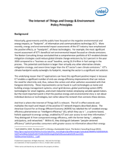 The IoT and Energy and Environment Policy Principles