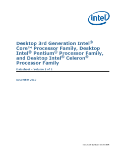 Mobile 3rd Gen Intel® Core™ Processor Family, Mobile Intel® Pentium® Processor Family, and Mobile Intel® Celeron® Processor Family : Datasheet, Vol. 2