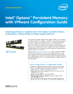Intel® Optane™ Persistent Memory with VMware Configuration Guide