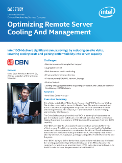 Optimizing Remote Server Cooling And Management