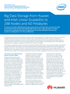 Huawei and Intel Bring Innovation to Big Data Storage