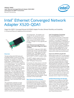 Intel® Ethernet Converged Network Adapter X520-QDA1 Product Brief