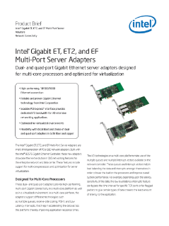 Intel® ET ET2 EF Server Adapters Product Brief