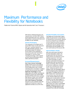 Maximum Performance and Flexibility for Notebooks