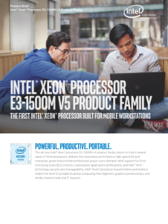 Intel® Xeon® Processor E3-1500M v5 Family Product Brief