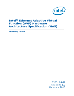 Spec: Intel® Ethernet Adaptive Virtual Function