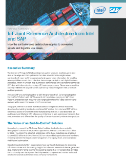 Intel and SAP IoT Edge Computing Architecture