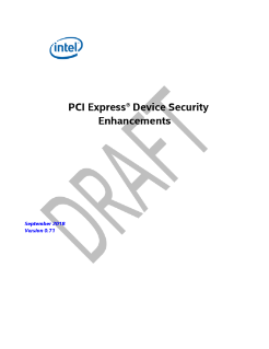 PCIe* Device Security Enhancements Specification