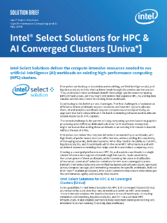 Intel® Select Solutions for HPC Clusters [Univa*] Brief