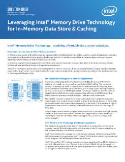 Intel® Memory Drive Technology for In-Memory Data Stores