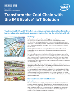 Transform the Cold Chain with the IMS Evolve* IoT Solution