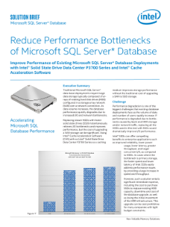 Accelerate and Improve Microsoft SQL Server* Database Performance