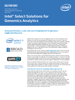 Intel® Select Solutions for Genomics Analytics Solution Brief