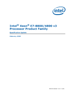 Intel® Xeon® E7-8800 and E7-4800 v3 Processor Specification Update