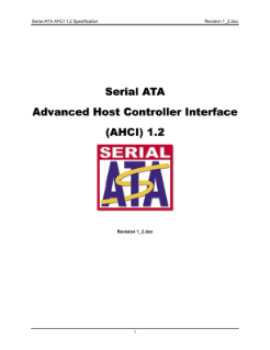 Serial ATA Advanced Host Controller Interface (AHCI)