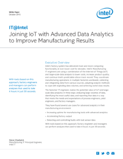 IoT Plus Advanced Data Analytics Improve Manufacturing Results