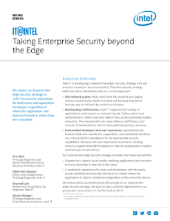 Taking Enterprise Security beyond the Edge